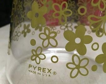 Pyrex spring blossom green carafe