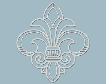 """Template / stencil """"French Lily"""" (silhouette) for textile design, mixed media, scrapbooking, canvas, decoration, walls..."""