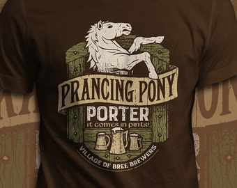 Prancing Pony Porter - The Lord of the Rings T-Shirt - Men's / Unisex & Women's Fit