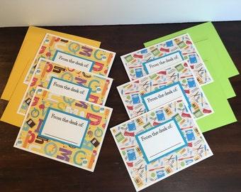 Teacher notecards 6-card set