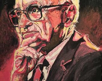 Milton Friedman in Acrylic