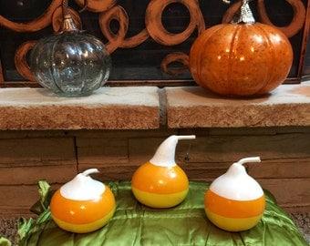 Super Cute Fall / Halloween Candy Corn Gourds - Set of 3