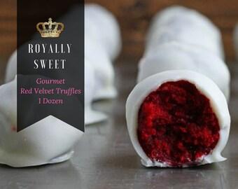 Gourmet Red Velvet Truffles 1 Dozen