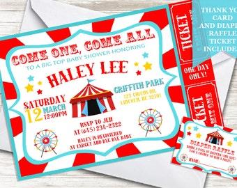 Circus baby shower invitation Etsy
