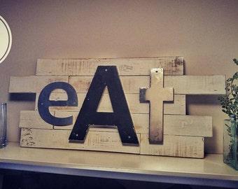 """Rustic Kitchen Decor """"Eat"""" Pallet Sign"""