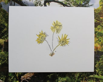 Blank Notecard - Tropical Thatch Palm