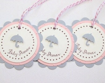 Favor Tag/Favour Tag/Gift Tag. Baby Pink. Pack of Twelve. Baby Shower.