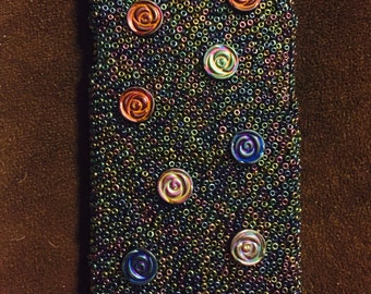 Oil Spill Beaded Phone Case