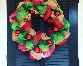 16'' Christmas Wreath with Ornaments