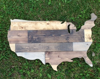"""Rustic Wooden USA 24"""""""