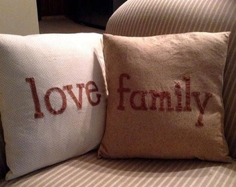 Word Pillows
