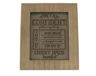 Bible Verse Art on Wood/ Christian Gift/ Scripture Art/ Christian Sign/ Encouragement/ Phillipians