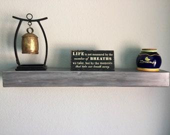 "Rustic Floating Shelf, Reclaimed wood shelf, shelves, 36"", shelving, wall art, furniture,"