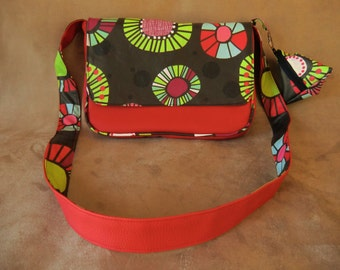 Red bag Messenger bag REVERSIBLE