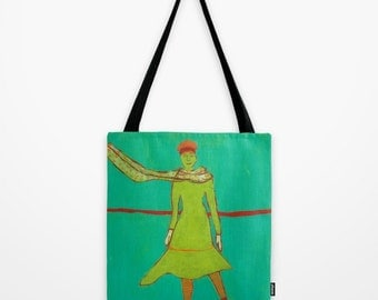 """Tote Bag """"Windy Winter Afternoon 1"""""""