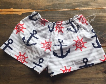 Anchors Away Shorts 12-18 months