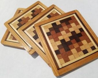 Wood coaster set. Free shipping