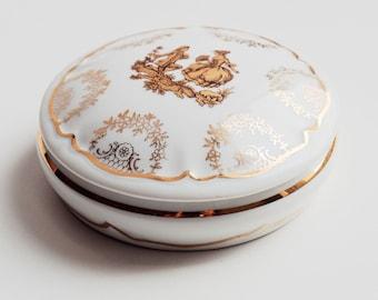 Antique Vintage Porcelain Limoges France Jewelry Trinket Box