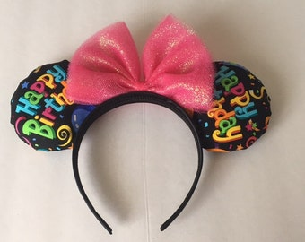 Happy Birthday Minnie Mouse Ears