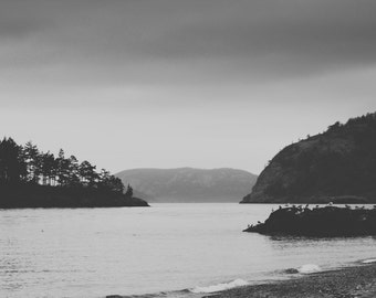 Deception Pass State Park, Whidbey Island, WA - Black & White Photography Print