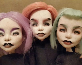 Sisters_Spectra Monster High ooak/ ооак Три сестры Спектра