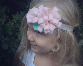 Custom felt flower headband