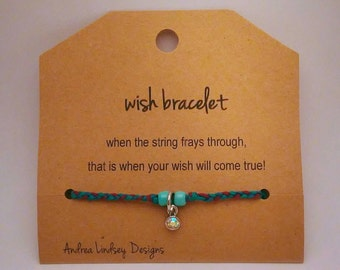 Wish Bracelet - Braided design with silver toned charm