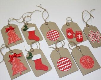 9 set XMAS tags Christmas decorations-Christmas tag-tag gift