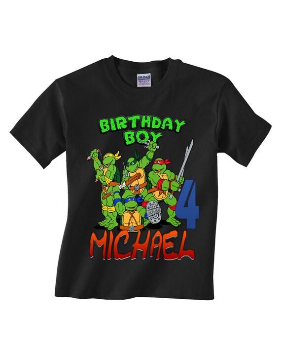 Tmnt Ninja Turtles Birthday Shirt Custom By Teezgallery On