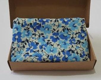 Pocket square - Blue floral