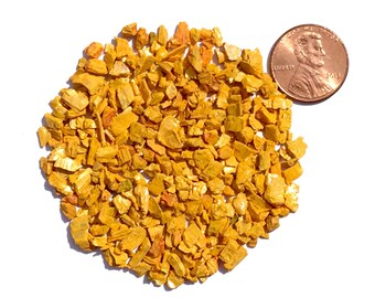 Crushed Orpiment Stone Inlay, Coarse, 1/2 Ounce