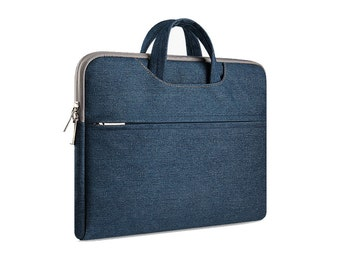 Demin Briefcase Laptop / Macbook Bag