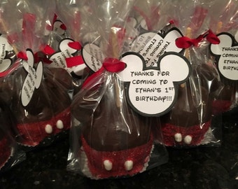 Mickey or Minnie Mouse caramel apples