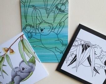 Greeting card set of 3, blank cards, Australian artist, souvenir,