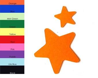 25 Pack - Paper Starfish Shape, Starfish Die Cut, Starfish Cut Outs, Sea Animal Shapes, Paper Animal Shapes