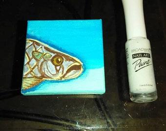 Miniature Tarpon painting