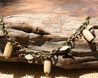 Handcrafted Buri Seed Dangle Bracelet