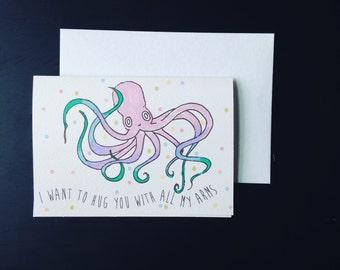hug octopus