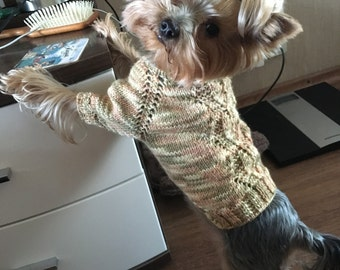 Pet Clothing-Sweater For Dogs With Gold Plated Beads -Warm Dog sweater-Dog Clothes