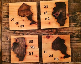 Wood State/ country/ provence Signs