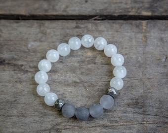 White and Grey Bracelet