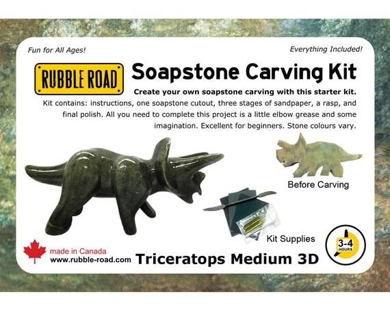 Triceratops soapstone kit medium from