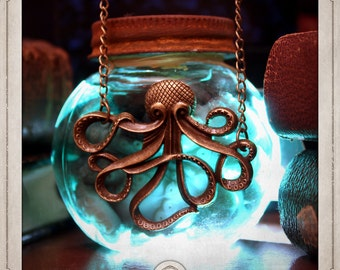 KRAKEN bronze pendant necklace steampunk nemo nautilus cthulhu COS002