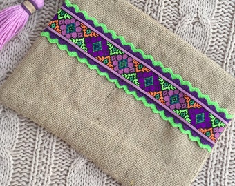 Handbag, clutch boho, clutch ethnic, hippy chic clutch
