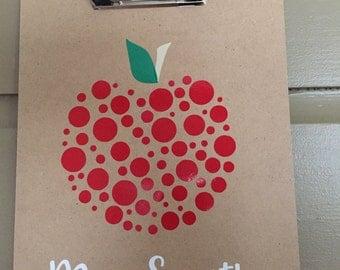 Polka Dot Apple Clipboard