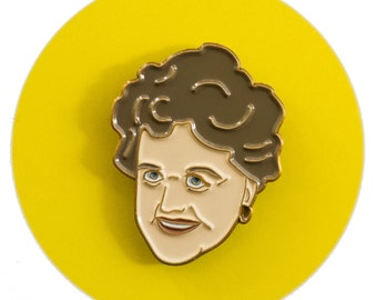 Angela Lansbury enamel lapel pin