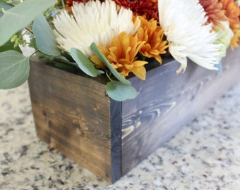 Wooden Centerpiece Flower Box