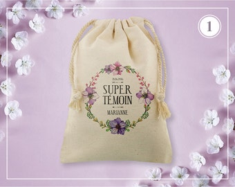 Wedding witness pouch - 5 models to customize
