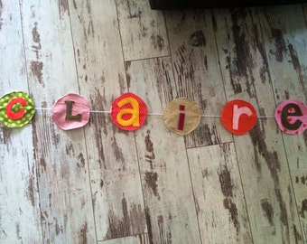 First name Garland coloured original decoration