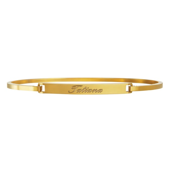 Bracelet from Stainless Steel – Gold Silver Rosegold - Personalised with Name